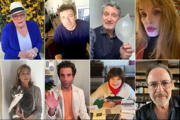 Ici Line Renaud, Patrick Bruel, Antoine de Caunes, Arielle Dombasle, Claire Chazal, Mika, Macha Méril et Marc Lévy.