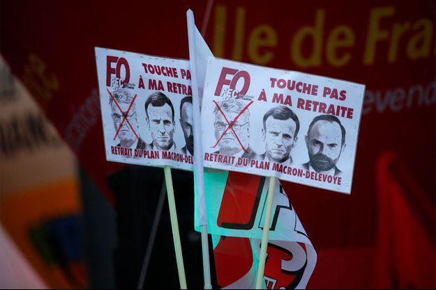 La manifestation à Paris jeudi 9 janvier.