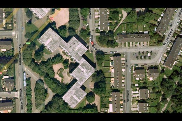 C'est dans ce quartier de Rouen que l'incendie a eu lieu.