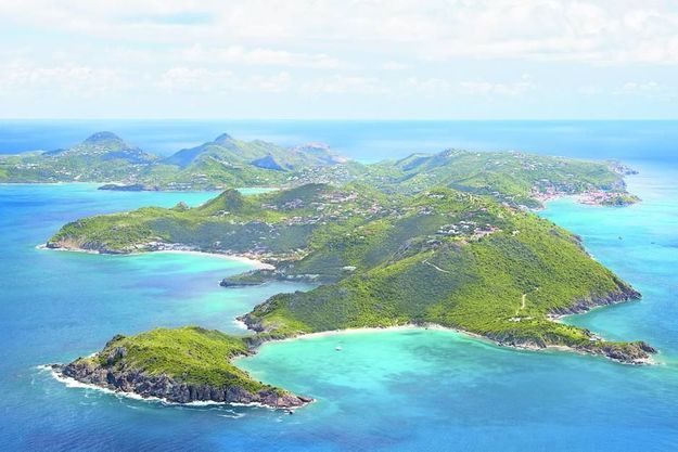 L'île de Saint-Barthélemy.