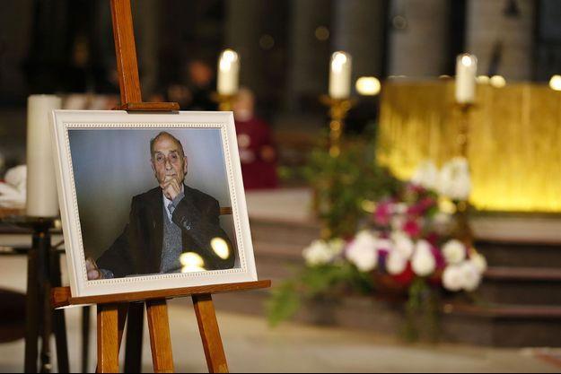 Le père Jacques Hamel lors de ses funérailles, à la cathédrale de Rouen, en août 2016.