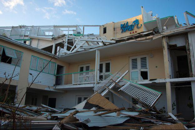 A Saint-Martin, tout est à reconstruire après le passage de l'ouragan Irma.