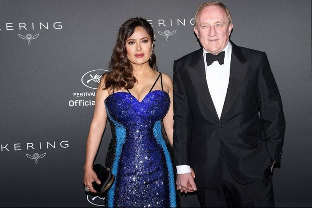 Salma Hayek et Francois-Henri Pinault au diner Kering au Festival de Cannes le 11 juillet 2021.