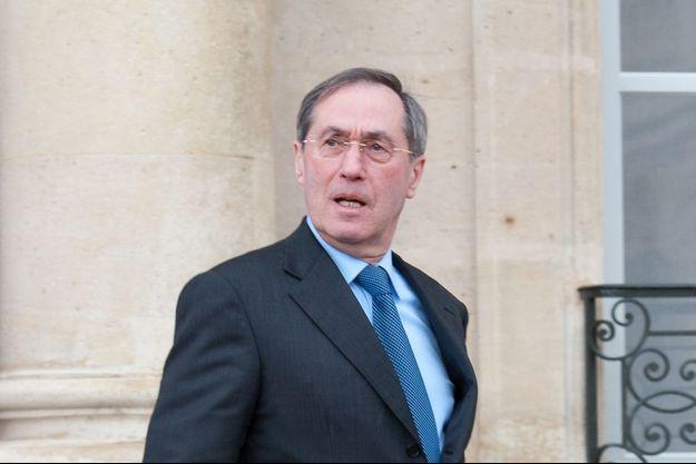 Claude Guéant sortant de l'Élysée en avril 2012.