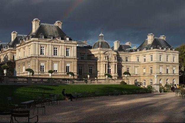 Vue du Palais du Luxembourg, siège du Sénat, à Paris.