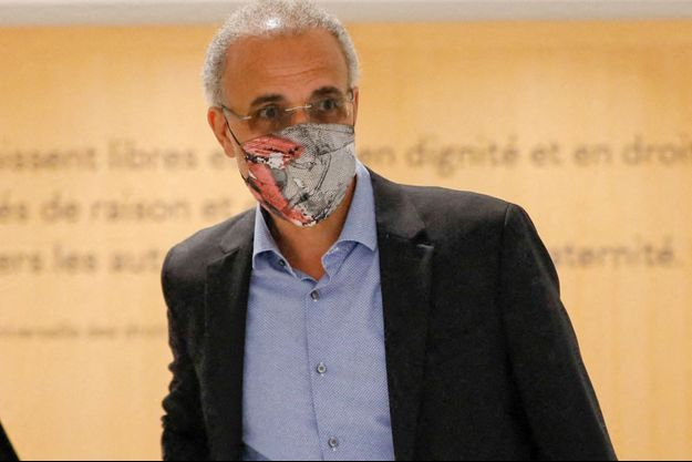 Tariq Ramadan au tribunal de Paris le 16 septembre 2020