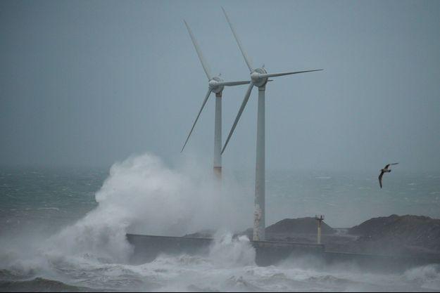 La tempête Ciara à Boulogne-sur-Mer, en février dernier.