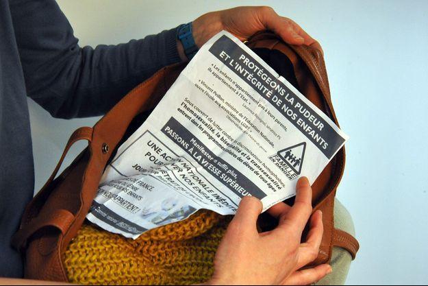 Le tract de la «journée de retrait de l'école» a été diffusé aussi bien en Île-de-France que dans le Nord-Pas-de-Calais.