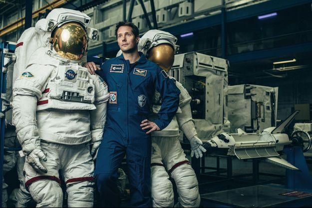 Thomas Pesquet nous présente, le 1er avril 2019, les nouvelles combinaisons des astronautes qui marcheront sur la Lune.