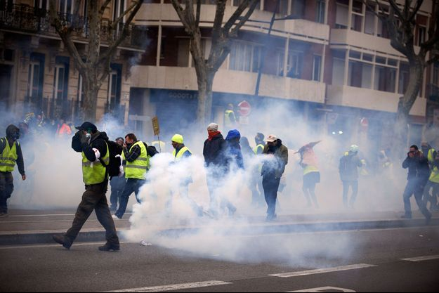 Manifestation de «gilets jaunes» à Toulouse, le 15 décembre 2018.