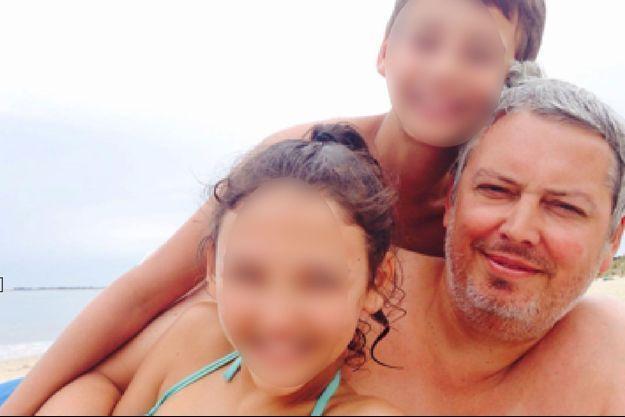 Fabrice et ses deux enfants, Iris et Hector
