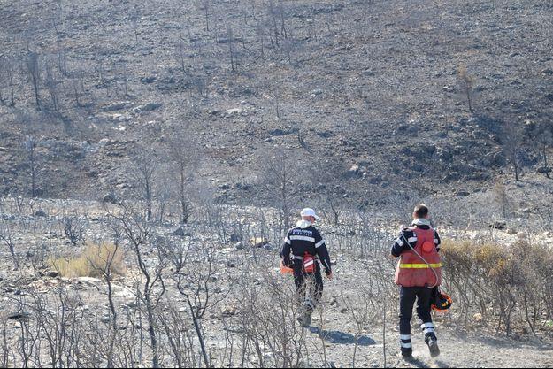 L'incendie criminel avait parcouru début septembre 300 hectares dans les calanques aux portes de Marseille.