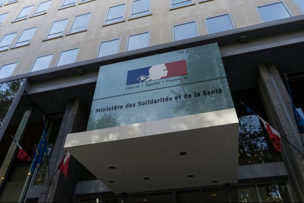 L'entrée du ministère de la Solidarité et de la Santé.