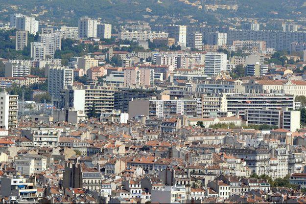 Vue générale des quartiers Nord de Marseille