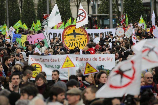 Une photo des intenses manifestations de février 2014 contre ce projet d'aéroport.