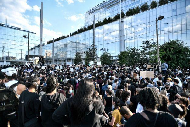 Manifestation pour Adama Traoré, le 2 juin 2020.