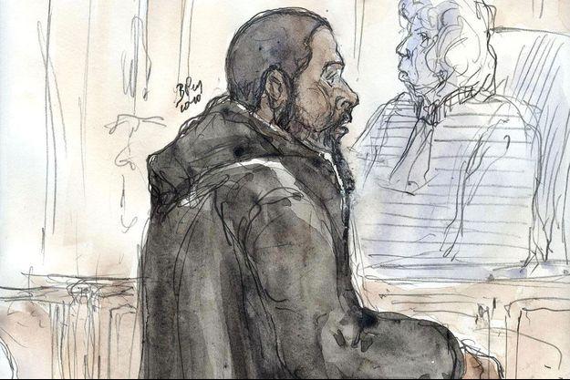 Peter Chérif à son procès à Paris en janvier 2001.
