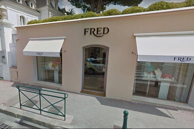 La bijouterie de luxe du joaillier Fred, à Saint Tropez.