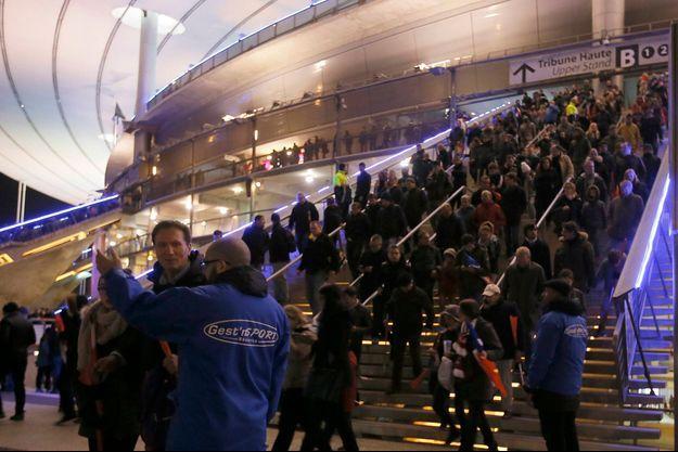 Evacuation du Stade de France