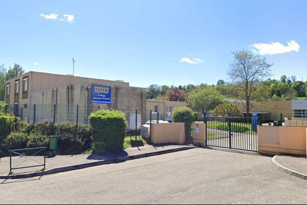 Le collège Jacques Prévert à Heyrieux, dans l'Isère.