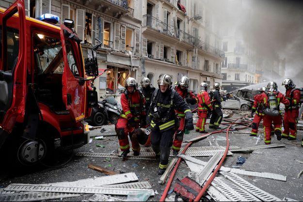 Explosion dans le 9ème arrondissement à Paris, samedi 12 janvier