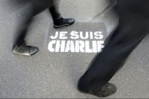 Lors de la manifestation du 11 janvier 2015, à Paris.