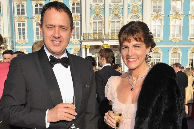 Olivier Fric et Anne Lauvergeon à Saint-Pétersbourg en 2008.