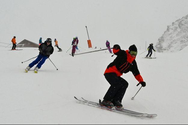 Des skieurs à Val Thorens.