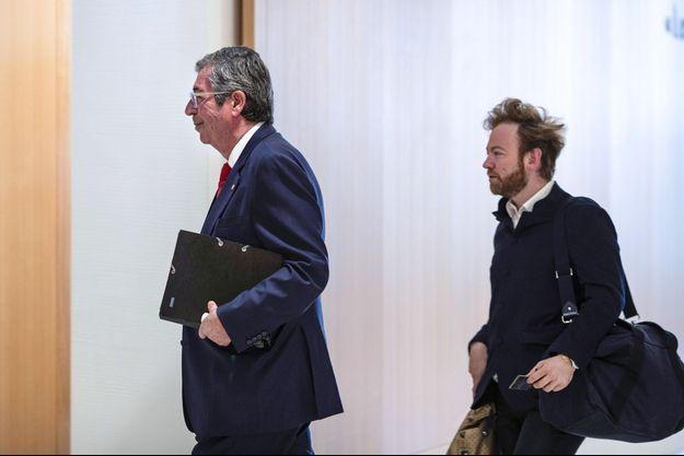 Patrick Balkany au palais de justice de Paris, jeudi.