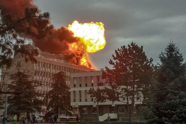 L'explosion s'est produite sur le toit de l'université Lyon-1.
