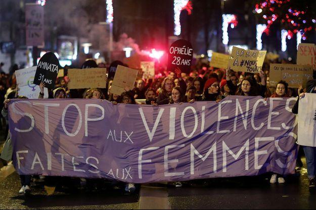 Une manifestation contre les violences faites aux femmes, en novembre, à Nantes.