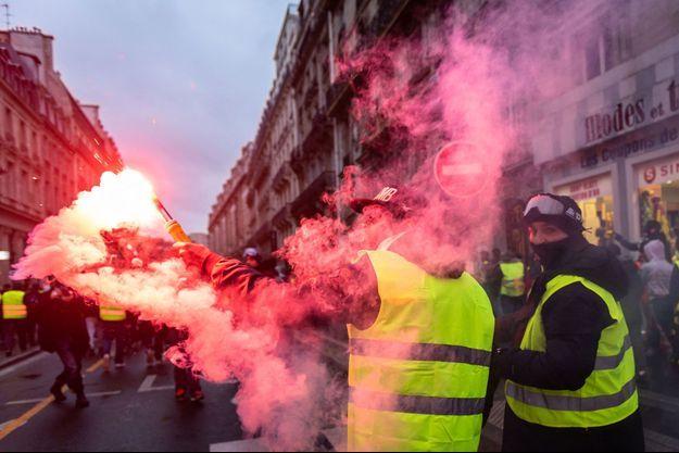 Manifestation des «gilets jaunes» à Paris le 22 décembre 2018.