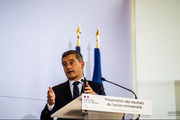 Gérald Darmanin, place Beauvau, en mai dernier.