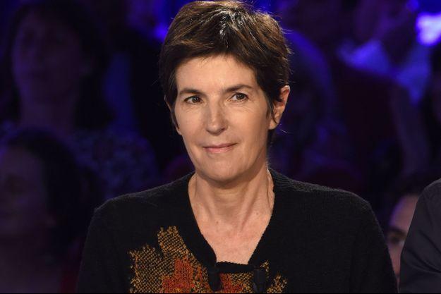 """Christine Angot sur le plateau d'""""On n'est pas couché""""."""