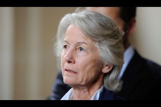 Dominique Erignac, la veuve du préfet, à la sortie du procès Colonna