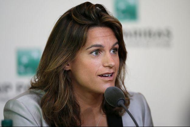 Amélie Mauresmo a donné une conférence de presse ce dimanche, à Roland Garros.