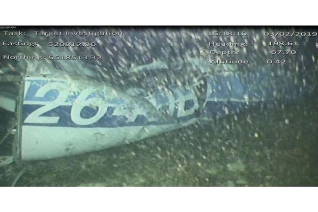 Image de l'épave de l'avion qui transportait Emiliano Sala et e pilote David Ibbotson