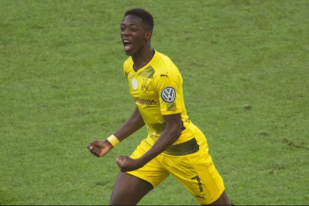 Ousmane Dembélé en mai dernier lors du match du Borussia Dortmund contre Eintracht Francfort.