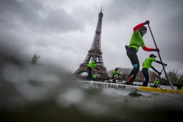 Image d'illustration de la 10e édition du Nautic Paddle, qui s'est déroulée dimanche matin à Paris.