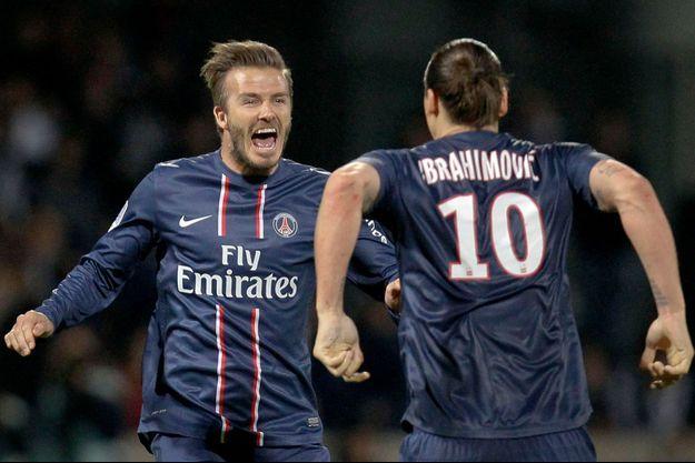 David Beckham et Zlatan Ibrahimovic quand ils évoluaient sous le maillot du PSG.