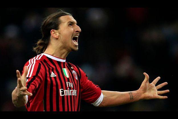 Zlatan Ibrahimovic, sous le maillot du Milan AC.