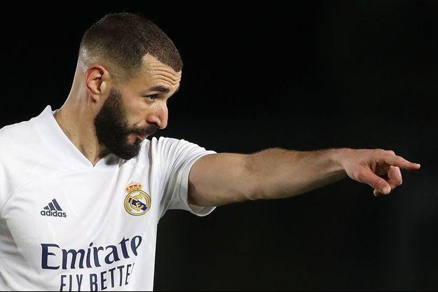 Karim Benzema sous le maillot du Real Madrid.