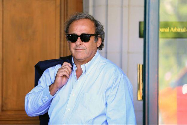 Michel Platini, ici à Lausanne en août 2016.