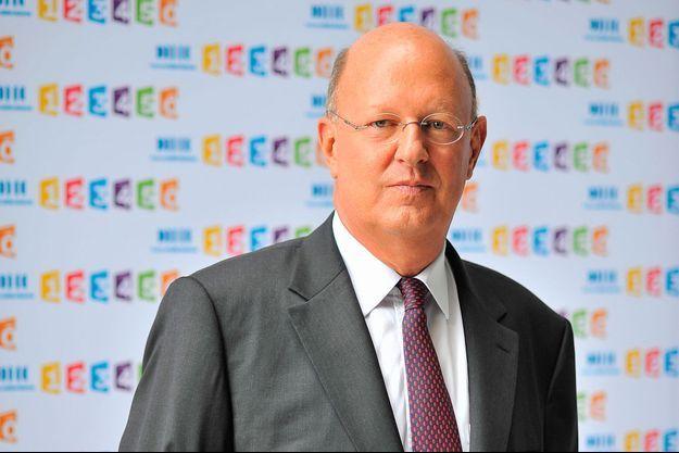 Rémy Pflimlin, candidat à sa propre succession, lors d'une conférence de presse de France Télévisions.