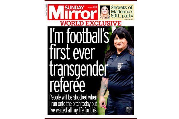 La couverture du Sunday Mirror avec Lucy Clark.