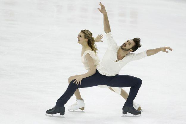 Gabriella Papadakis et Guillaume Cizeron, jeudi à Shanghai