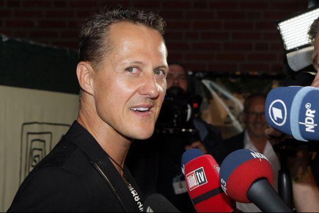 Michael Schumacher photographié à Hambourg en septembre 2013, trois mois avant son accident.