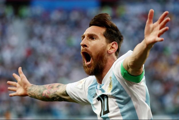 Lionel Messi a marqué son premier but de la compétition face au Nigeria.