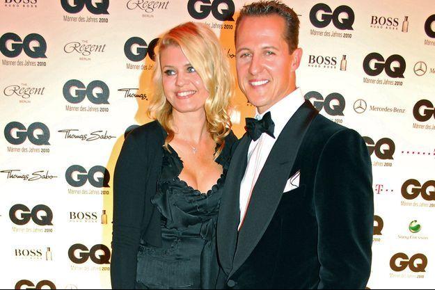 Corinna et Michael Schumacher aux GQ Men of the Year Awards 2010, à Berlin.