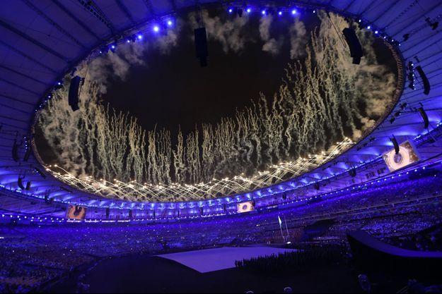 La cérémonie d'ouverture des jeux paralympiques à Rio en septembre 2016.